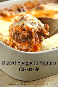 Baked Spaghetti Squash Casserole Recipe