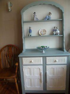 shabby chic dutch dresser upcycled in annie sloan duck egg blue original white annie sloan bemalte mobelgestrichener