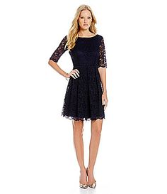 Jessica Simpson Lace Fit and Flare Dress #Dillards