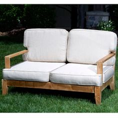 Deluxe Teak Loveseat | Overstock™ Shopping - Big Discounts on Sofas, Chairs & Sectionals