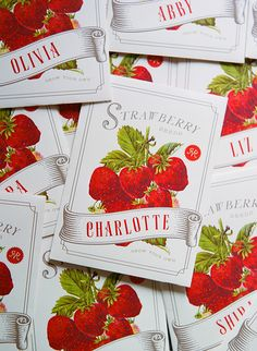 DIY Vintage-Inspired Strawberry Seed Packets + Free Printable! From Snippet & Ink and Rock Paper Scissors Charlottesville!