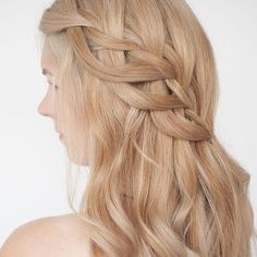 Next level waterfall braids - search for 'loop waterfall'to find the tutorial for this braid on www.hairromance.com xx