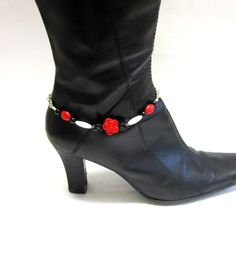 Boot Bracelet Day of the Dead Jewelry Black by sweetie2sweetie, $16.99