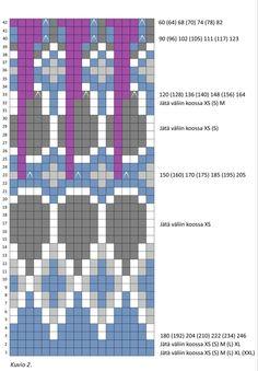 Islantilaisneule | Meillä kotona Intarsia Knitting, Knitting Charts, Knitting Patterns Free, Free Pattern, Fair Isle Chart, Fair Isle Pattern, Norwegian Knitting, Icelandic Sweaters, Cross Stitch Embroidery