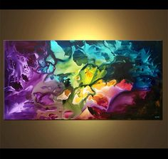 Abstract art by Osnat  very colorful!  Beautiful!