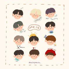 Drawing Cartoon Faces, Cartoon Art, Cute Drawings, Graphic Wallpaper, Wallpaper Iphone Cute, Character Illustration, Illustration Art, Cute Art Styles, Korean Art