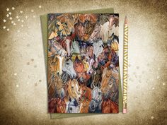 Instant digital download ~ Horse Portraits for people who love horses ~ Horse Show Mom greeting card ~ Horse portraits ~ Printable horse card. Horse Show Mom, Show Horses, Horse Cards, Horse Portrait, Gifts For Horse Lovers, Hand Coloring, Card Sizes, Pony, Craft Projects