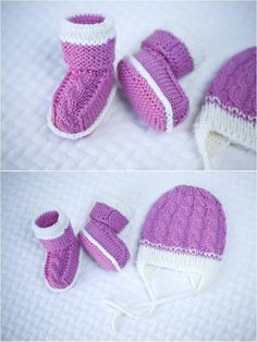 Items similar to READY TO SHIP! Knitted baby booties and hat/bonnet, merino wool. on Etsy Knitted Baby Boots, Knit Baby Booties, Wool Yarn, Merino Wool, Cute Gifts, Baby Knitting, Baby Shower Gifts, Winter Hats, Booty