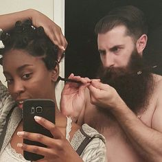 judithsnaturalhair:  ♥ ❤The Look on His Face tells you he's serious ! ♥ ❤NaturalHairAndLoveClick Link !! For Natural Hair Videos Here - https://www.youtube.com/judithsNaturalHair