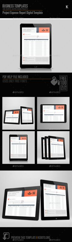Architecture Proposal Digital Template Adobe indesign, Proposals - expense report