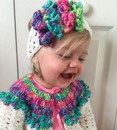 Newborn Gift Baby Girl Sweater Set Toddler by PeekabowsMESCrochet