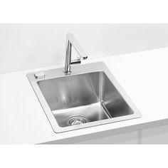 Chiuveta de bucatarie Alveus colectia Pure 10 Teh la nivelul blatului din inox,inclus sifon pop-up - Iak Pop Up, Sink, Home Decor, Sink Tops, Vessel Sink, Decoration Home, Room Decor, Popup, Vanity Basin