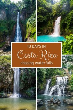10 day itinerary in Costa Rica chasing waterfalls. Click through to read more: https://mytanfeet.com/costa-rica-travel-tips/10-days-costa-rica-waterfalls/ Costa Rica   Costa Rica travel tips