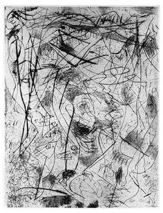 """Jackson Pollock, """"Untitled"""" ca. 1944-45. [1078] Engraving and drypoint, 19 3/4 x 27 3/4 inches (sheet). Printed posthumously, 1967. Courtesy of the Pollock-Krasner Foundation."""
