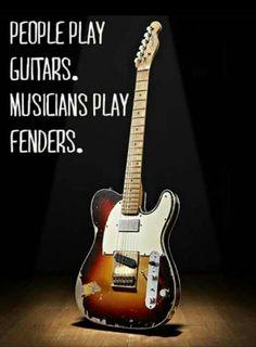 Musicians play fenders Tele