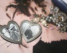 Heart Locket Vintage Locket Locket necklace Heart by IRISHTREASURE Royal Jewelry, Heart Jewelry, Statement Jewelry, Vintage Lockets, Vintage Jewelry, Handmade Jewelry, Celtic, Heart Locket Necklace, Pearl Necklace