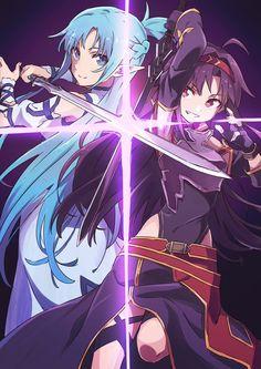 Awesome Sword Art Online Season 2 Wallpaper - Sword Art Online Season 2 Wallpaper Luxury Imágenes Sao 2 asuna and Yuuki Sao forever⚔️ Anime Neko, Anime Kawaii, Anime Manga, Sao Anime, Manga Girl, Anime Girls, Sword Art Online Asuna, Online Anime, Online Art