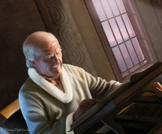 Luwin is a maester in the service of House Stark at Winterfell. Casa Stark, House Stark, Maester Luwin, The Winds Of Winter, Game Of Thones, Savage Worlds, Fantasy Portraits, Game Of Thrones Art, Fire Art