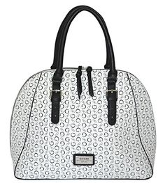 2c357d5c31ed GUESS Signature Lynwood Dome Satchel Bag Handbag Purse Chalk -- Click on  the image for additional details.