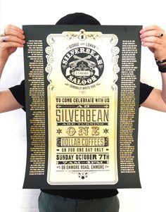 Silverbean 1st Birthday Poster Design