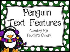 Penguin Text Features Book free