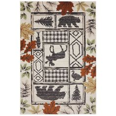 Mohawk Home American Rug Craftsmen Madison Autumn Leaves Rug (3'6 x 5'6) (Linen), Beige (Plastic, Nature)