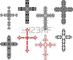 tatouage croix: Art Croix chrétienne Vector Design