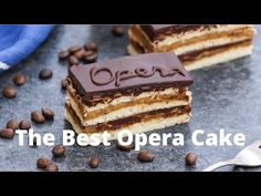 Opera Cake is a classic French dessert combining layers of almond sponge cake soaked in coffee syrup, espresso-flavored buttercream, and decadent chocolate ganache. It's finished with a smooth chocolate glaze. This recipe has been tested many times and is easily the best homemade opera cake recipe that I've ever tried. Chocolate Glaze, Decadent Chocolate, Chocolate Chip Cookies, Shot Recipes, Cake Recipes, Dessert Recipes, Sous Vide Cheesecake, Classic French Desserts, Desert Recipes