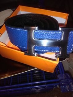 Image of Hermes Belt Replica Blue/Brown