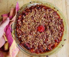 Gluten-free plum crumble