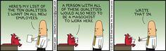 Only Masochist Would Work Here - Dilbert by Scott Adams