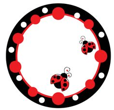 Clock Ladybug Party, Clip Art, Borders And Frames, Love Bugs, Printable Paper, San Antonio, Scrapbooking, Paper Crafts, Clock