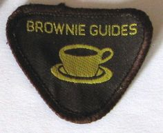 Brownie Guide badge - Hostess. I remember making sooooo many cups of tea for this!