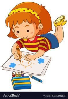 Buy Little Girl Drawing Sun on Paper by interactimages on GraphicRiver. Little girl drawing sun on paper illustration Kids Cartoon Characters, Cartoon Kids, Cartoon Images, Little Girl Drawing, Drawing For Kids, Art For Kids, Kids Background, Kids Schedule, School Clipart