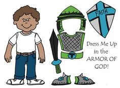 """Dress Me Up in the Armor of God Eph 6 Printable, Cut & Color""--free download"