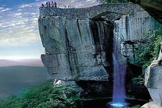 Lookout Mountain, in Chatanooga, TN. Gorgeous. I have driven past it 4 times, haven't had time to visit. Would also love to see Ruby Falls.