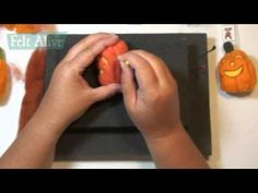 Needle Felting a Jack O'Lantern  - Felt Alive Video Workshop