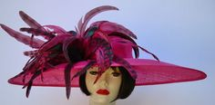 Hot Pink Wide Brim Hat for the Kentucky Derby or Oaks!