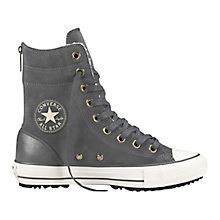 Buy Converse Chuck Taylor All Star Hi-Rise Suede Trainers, Thunder Suede Online at johnlewis.com