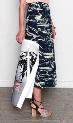 Shabd Maxi Pocket Skirt - Lumen