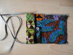 klein schoudertasje van patchwork van Afrikaanse stof bij Yanine design