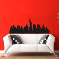 New York Skyline City Silhouette Wall Vinyl Decal