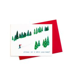 New to anopensketchbook on Etsy: Ski Slopes White Christmas Card Box Set (17.00 USD)