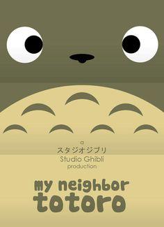 宮崎アニメの代表作をミニマルな表現でリメイクしたポスター [K'conf]