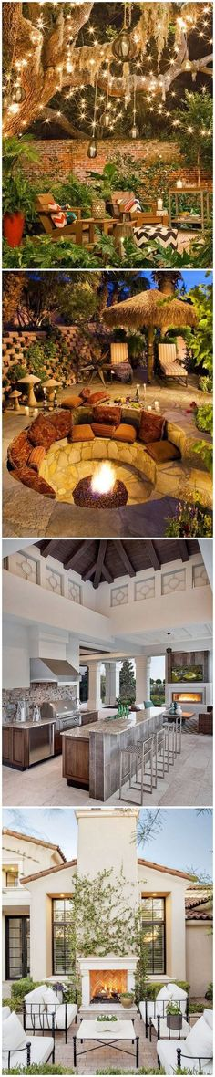 Stunning Outdoor Living Spaces. Check em out.