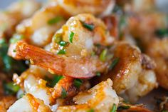 Garlic Ginger Shrimp Stir fry Recipe + Step By Step Recipe Video ~ http://steamykitchen.com