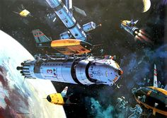 Science Fiction World — Klaus Burgle Space Illustration, Illustrations, Sherlock Holmes, Drawing Faces, Art Drawings, Sci Fi Kunst, Science Fiction Kunst, 70s Sci Fi Art, Space Battles