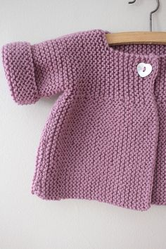 Ideas Crochet Cardigan Pattern Girls Baby Sweaters For 2019 Baby Knitting Patterns, Baby Cardigan Knitting Pattern, Knitted Baby Cardigan, Toddler Sweater, Knit Baby Sweaters, Knitting For Kids, Baby Patterns, Free Knitting, Cardigan Sweaters