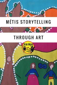 Métis Storytelling Through Art – Ninja Notes Aboriginal Education, Indigenous Education, Aboriginal Culture, Indigenous Art, Art Education, Art Lessons Elementary, Lessons For Kids, Middle School Art, Art School