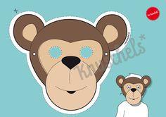 Bastelbogen Maske Affe PDF von dieknuschels auf Etsy